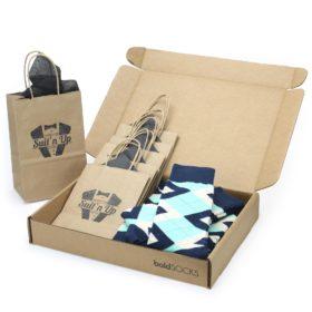 Mint Navy Argyle Customizable Wedding Groomsmen Sock Kit