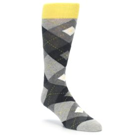 Heathered Gray Argyle Socks