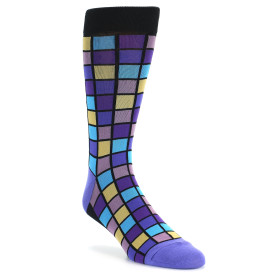 20032-black-purple-blue-mosaic-squares-mens-dress-sock-foot-traffic01