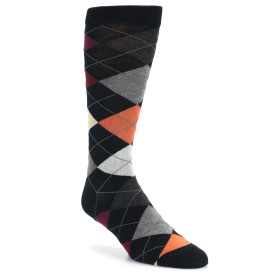 20046-black-red-orange-grey-argyle-mens-dress-sock-ozone-socks01