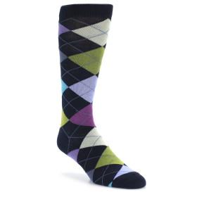 20049-navy-light-purple-green-argyle-mens-dress-sock-ozone-socks01