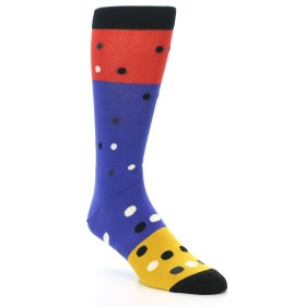 21161-blue-red-gold-polka-dot-men's-dress-socks-ballonet-socks01