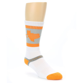 21278-grey-orange-white-texas-men's-athletic-crew-socks-strideline01