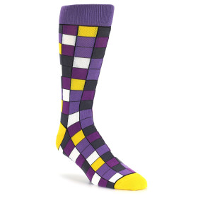 21567-purple-grey-yellow-checkered-men's-dress-socks-statement-sockwear01