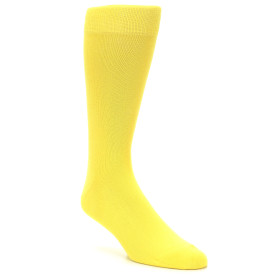 21731-Sunbeam-Yellow-Solid-Color-Men's-Dress-Socks-boldSOCKS01