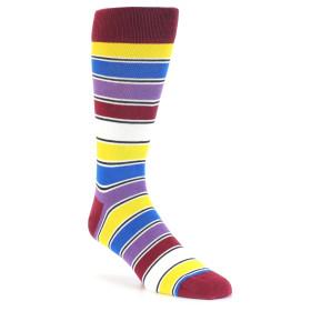 21781-red-multi-color-stripe-men's-dress-socks-statement-sockwear01