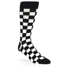 21783-black-white-checkered-men's-dress-socks-statement-sockwear01