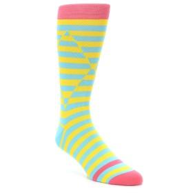 21803-yellow-blue-optical-stripes-men's-dress-socks-ballonet-socks01