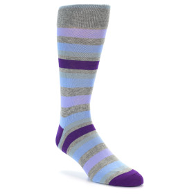 21809-Grey-Blue-Purple-Stripe-Men's-XL-Dress-Socks-Vannucci01