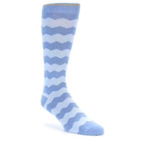 21814-Blues-Chevron-Stripe-XL-Men's-Dress-Socks-Argoz01