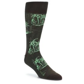 21819-Brown-Green-Tropical-Men's-Dress-Socks-Original-Penguin01