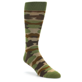 21834-Green-Brown-Tan-Camouflage-Men's-Dress-Sock-Foot-Traffic01