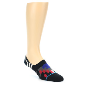 21835-Black-White-Red-Blue-Patterned-Men's-Liner-Socks-STANCE01