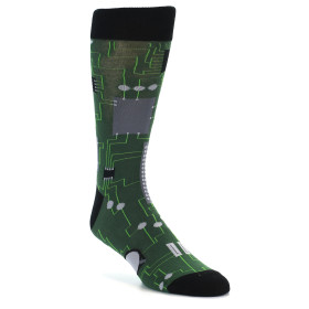 21849-Green-Grey-Circuit-Board-Men's-Dress-Socks-Sock-It-To-Me01