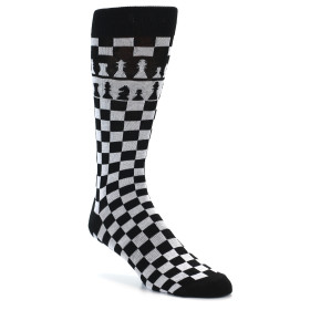 21857-Black-White-Checkered-Chess-Men's-Dress-Socks-K.-Bell-Socks01