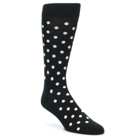 21874-Black-White-Polka-Dot-Men's-Dress-Socks-Happy-Socks01