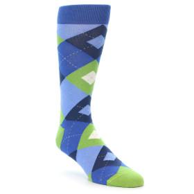 21890-Blues-Green-Argyle-Men's-Dress-Socks-Statement-Sockwear01