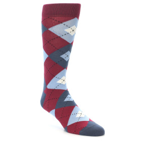 21894-Apple-Red-Blue-Argyle-Men's-Dress-Socks-Statement-Sockwear01