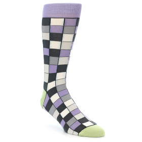 21899-Orchid-Purple-Greys-Checkered-Men's-Dress-Socks-Statement-Sockwear01