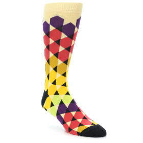 21917-Multi-Color-Triangles--Men's-Dress-Socks-Ballonet-Socks01