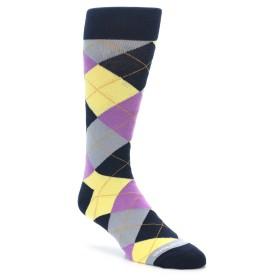 Navy Purple Argyle Socks