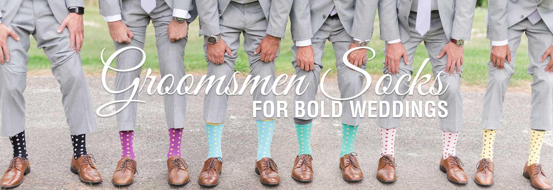 Groomsmen Wedding Socks Banner