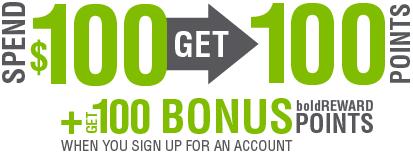 Spend $100, Get 100 Points