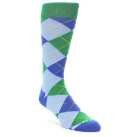 21940-Blue-Light-Blue-Green-Argyle-Men's-Dress-Sock-Unsimply-Stitched01
