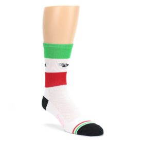 LARGE-White-Italia-Stripe-Mens-Crew-Athletic-Socks-DeFeet