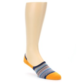 21946-Orange-Blue-Stripe-Men's-No-Show-Socks-Unsimply-Stitched01