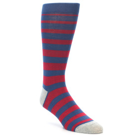21947-Blue-Red-Stripe-Men's-Dress-Socks-K.-Bell-Socks01