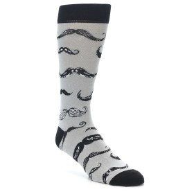 21959-Grey-Black-Mustache-Men's-Dress-Socks-Yo-Sox01
