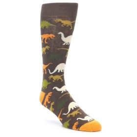 21960-Brown-Orange-Dinosaurs-Men's-Dress-Socks-Yo-Sox01