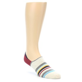 21998-Grey-Red-Stripe-Mens-Liner-Socks-STANCE01