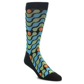 22098-Black-Green-Blue-Stripes-Mens-Dress-Socks-K.-Bell-Socks01