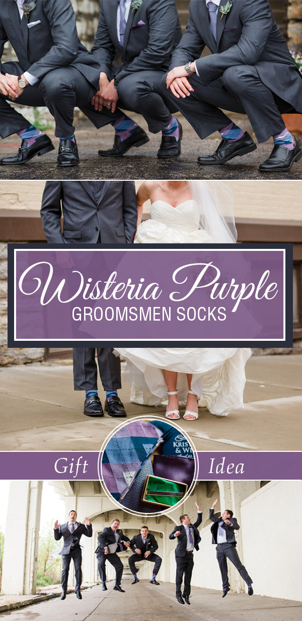 wisteria purple wedding socks