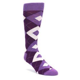Wisteria-Plum-Argyle-Mens-Dress-Statement-Sockwear