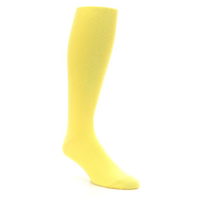 Sunbeam Yellow Men's Over the Calf Dress Socks