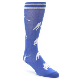 Blue White Hockey Player Dress Socks