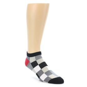 22136-Black-White-Grey-Checkered-Men-s-Ankle-Sock-Good-Luck-Socks01