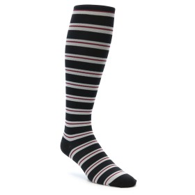 22112-Black-Grey-Stripe-Mens-Compression-Dress-Socks-Vim-Vigr01