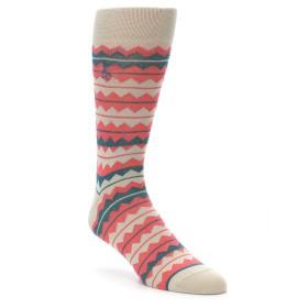 22163-Khaki-Orange-Green-Stripe-Mens-Dress-Socks-Original-Penguin01