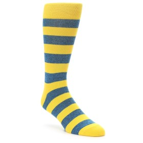 22166-Yellow-Blue-Stripe-Mens-Dress-Socks-Richer-Poorer01