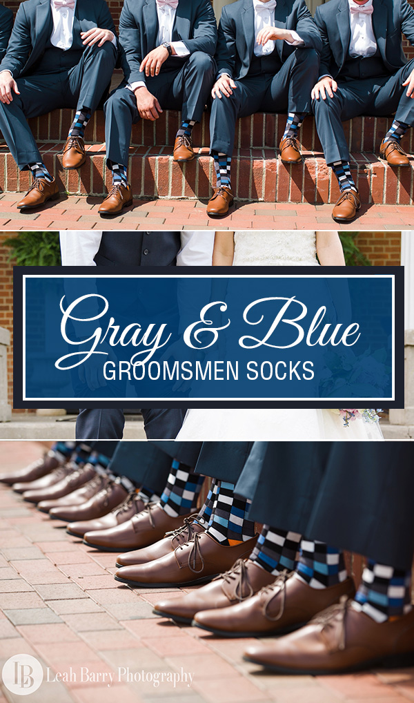Blue and Gray Wedding Socks