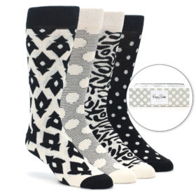 22687-Black-White-Mens-Dress-Socks-Gift-Box-4-Pack-Happy-Socks01