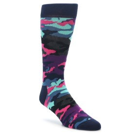 22184-Black-Multi-Color-Camo-Mens-Dress-Socks-Happy-Socks01