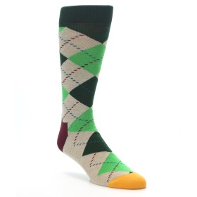 22195-Greens-Tan-Argyle-Mens-Dress-Socks-Happy-Socks01