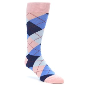 Pink and Blue Argyle Men's Socks