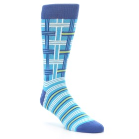 Blue Plaid Men's Socks - Statement Sockwear