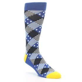 Blue Diamond Argyle Socks - Statement Sockwear